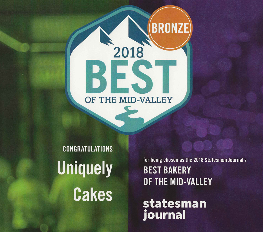 Award winning Uniquely Cakes recognized by the Statesman Journal
